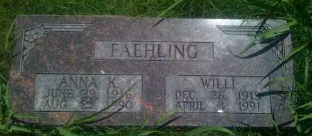 FAEHLING, WILL - Baxter County, Arkansas | WILL FAEHLING - Arkansas Gravestone Photos