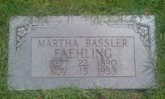 BASSLER FAEHLING, MARTHA - Baxter County, Arkansas | MARTHA BASSLER FAEHLING - Arkansas Gravestone Photos