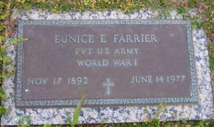 FARRIER (VETERAN WWI), EUNICE E - Baxter County, Arkansas | EUNICE E FARRIER (VETERAN WWI) - Arkansas Gravestone Photos