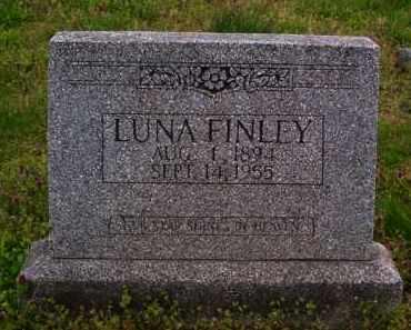 FINLEY, LUNA - Baxter County, Arkansas | LUNA FINLEY - Arkansas Gravestone Photos
