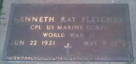 FLETCHER  (VETERAN WWII), KENNETH RAY - Baxter County, Arkansas   KENNETH RAY FLETCHER  (VETERAN WWII) - Arkansas Gravestone Photos
