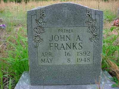 FRANKS, JOHN A. - Baxter County, Arkansas | JOHN A. FRANKS - Arkansas Gravestone Photos
