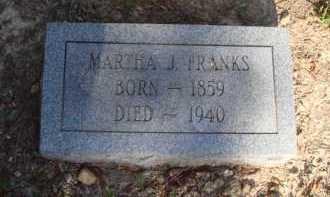 FRANKS, MARTHA J. - Baxter County, Arkansas | MARTHA J. FRANKS - Arkansas Gravestone Photos