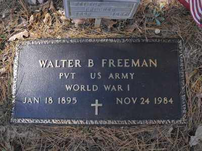 FREEMAN  (VETERAN WWI), WALTER B - Baxter County, Arkansas | WALTER B FREEMAN  (VETERAN WWI) - Arkansas Gravestone Photos