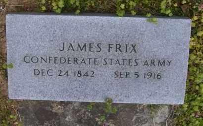FRIX (VETERAN CSA), JAMES - Baxter County, Arkansas | JAMES FRIX (VETERAN CSA) - Arkansas Gravestone Photos