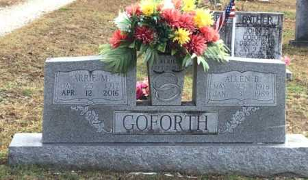 GOFORTH, ALLEN B - Baxter County, Arkansas | ALLEN B GOFORTH - Arkansas Gravestone Photos