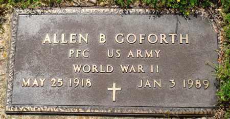 GOFORTH (VETERAN WWII), ALLEN B - Baxter County, Arkansas   ALLEN B GOFORTH (VETERAN WWII) - Arkansas Gravestone Photos