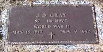 GRAY (VETERAN WWII), J D - Baxter County, Arkansas   J D GRAY (VETERAN WWII) - Arkansas Gravestone Photos