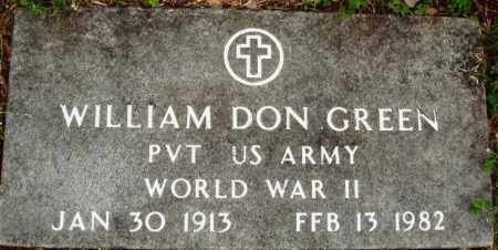 GREEN (VETERAN WWII), WILLIAM DON - Baxter County, Arkansas   WILLIAM DON GREEN (VETERAN WWII) - Arkansas Gravestone Photos