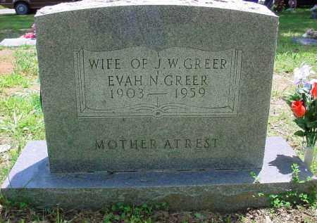 ACKLIN GREER, EVAH N. - Baxter County, Arkansas   EVAH N. ACKLIN GREER - Arkansas Gravestone Photos