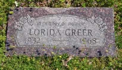 WEATHERFORD GREER, LORIDA - Baxter County, Arkansas | LORIDA WEATHERFORD GREER - Arkansas Gravestone Photos