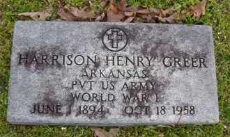 GREER (VETERAN WWI), HARRISON HENRY - Baxter County, Arkansas | HARRISON HENRY GREER (VETERAN WWI) - Arkansas Gravestone Photos