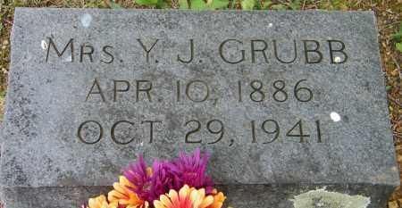 GRUBB, MRS Y J - Baxter County, Arkansas   MRS Y J GRUBB - Arkansas Gravestone Photos
