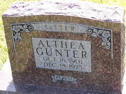 WEBBER GUNTER, AUDRA ALTHEA - Baxter County, Arkansas | AUDRA ALTHEA WEBBER GUNTER - Arkansas Gravestone Photos