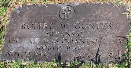 GUNTER  (VETERAN WWI), ROBERT W - Baxter County, Arkansas   ROBERT W GUNTER  (VETERAN WWI) - Arkansas Gravestone Photos