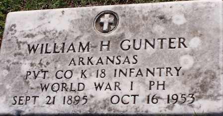 GUNTER  (VETERAN WWI), WILLIAM HENRY - Baxter County, Arkansas | WILLIAM HENRY GUNTER  (VETERAN WWI) - Arkansas Gravestone Photos