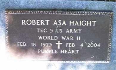 HAIGHT (VETERAN WWII), ROBERT ASA (OBIT) - Baxter County, Arkansas   ROBERT ASA (OBIT) HAIGHT (VETERAN WWII) - Arkansas Gravestone Photos