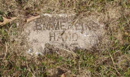 HAND, EMMERLINE - Baxter County, Arkansas | EMMERLINE HAND - Arkansas Gravestone Photos