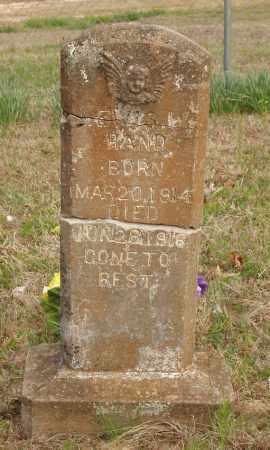 HAND, LEWIS W - Baxter County, Arkansas   LEWIS W HAND - Arkansas Gravestone Photos