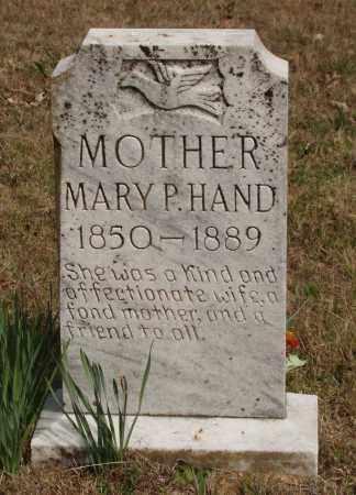 HAND, MARY P - Baxter County, Arkansas   MARY P HAND - Arkansas Gravestone Photos
