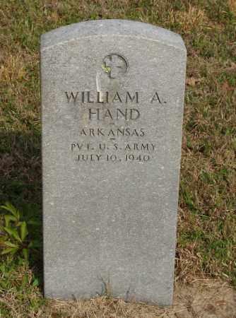 HAND (VETERAN), WILLIAM A - Baxter County, Arkansas | WILLIAM A HAND (VETERAN) - Arkansas Gravestone Photos