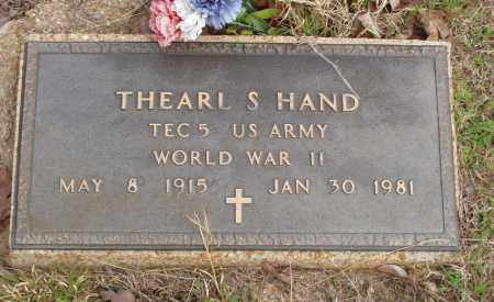 HAND (VETERAN WWII), THEARL S - Baxter County, Arkansas | THEARL S HAND (VETERAN WWII) - Arkansas Gravestone Photos