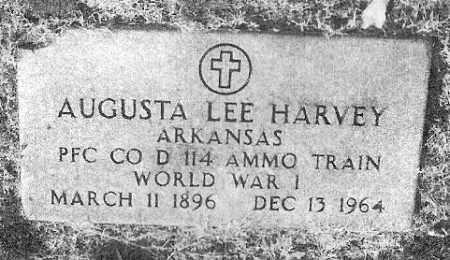 HARVEY (VETERAN WWI), AUGUSTA LEE - Baxter County, Arkansas | AUGUSTA LEE HARVEY (VETERAN WWI) - Arkansas Gravestone Photos