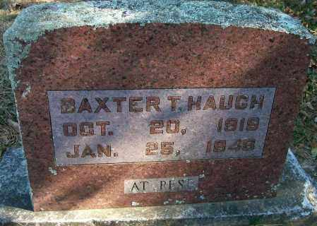 HAUGH, BAXTER T - Baxter County, Arkansas | BAXTER T HAUGH - Arkansas Gravestone Photos
