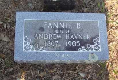 HAVNER, FANNIE BELLE - Baxter County, Arkansas   FANNIE BELLE HAVNER - Arkansas Gravestone Photos
