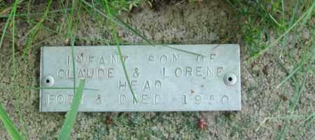 HEAD, INFANT SON - Baxter County, Arkansas   INFANT SON HEAD - Arkansas Gravestone Photos