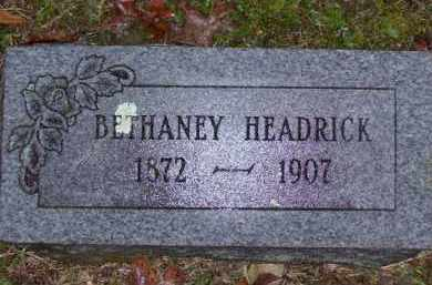 HEADRICK, BETHANEY - Baxter County, Arkansas | BETHANEY HEADRICK - Arkansas Gravestone Photos