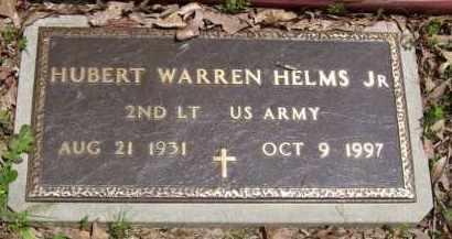 HELMS, JR (VETERAN), HUBERT WARREN - Baxter County, Arkansas | HUBERT WARREN HELMS, JR (VETERAN) - Arkansas Gravestone Photos