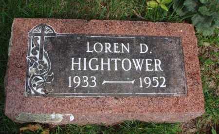 HIGHTOWER, LOREN D. - Baxter County, Arkansas   LOREN D. HIGHTOWER - Arkansas Gravestone Photos