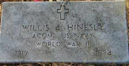 HINESLY (VETERAN WWII), WILLIS A - Baxter County, Arkansas | WILLIS A HINESLY (VETERAN WWII) - Arkansas Gravestone Photos