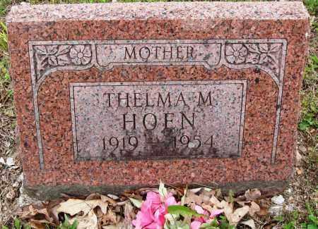 HOEN, THELMA M - Baxter County, Arkansas | THELMA M HOEN - Arkansas Gravestone Photos