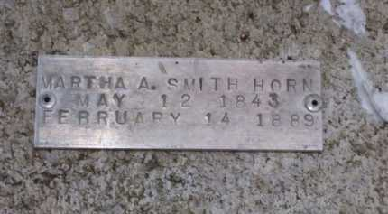 SMITH HORN, MARTHA A. - Baxter County, Arkansas   MARTHA A. SMITH HORN - Arkansas Gravestone Photos