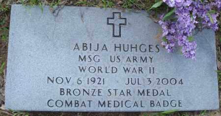 HUGHES (VETERAN WWII), ABIJA - Baxter County, Arkansas | ABIJA HUGHES (VETERAN WWII) - Arkansas Gravestone Photos