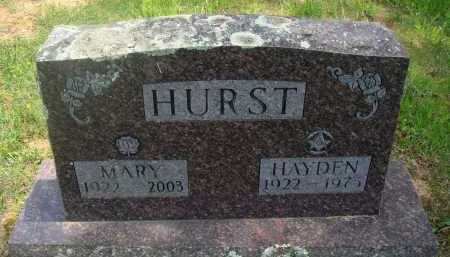 HURST, HAYDEN - Baxter County, Arkansas | HAYDEN HURST - Arkansas Gravestone Photos
