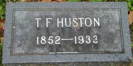 HUSTON, T F - Baxter County, Arkansas   T F HUSTON - Arkansas Gravestone Photos