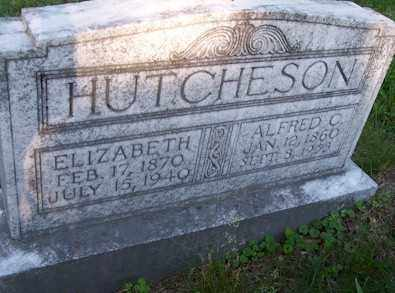 HUTCHESON, ELIZABETH - Baxter County, Arkansas   ELIZABETH HUTCHESON - Arkansas Gravestone Photos
