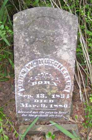 HUTCHESON (VETERAN CSA), JOHN W - Baxter County, Arkansas | JOHN W HUTCHESON (VETERAN CSA) - Arkansas Gravestone Photos