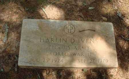 IVENS  (VETERAN WWII), HARLIN D. - Baxter County, Arkansas | HARLIN D. IVENS  (VETERAN WWII) - Arkansas Gravestone Photos