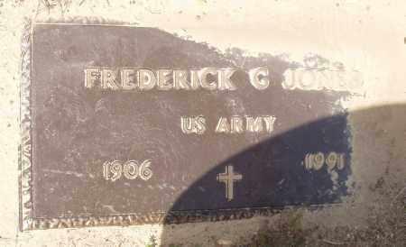 JONES  (VETERAN), FREDERICK G - Baxter County, Arkansas | FREDERICK G JONES  (VETERAN) - Arkansas Gravestone Photos