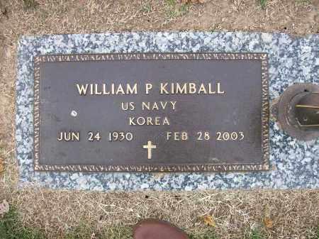 KIMBALL (VETERAN KOR), WILLIAM P - Baxter County, Arkansas | WILLIAM P KIMBALL (VETERAN KOR) - Arkansas Gravestone Photos