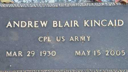 KINCAID (VETERAN), ANDREW BLAIR - Baxter County, Arkansas   ANDREW BLAIR KINCAID (VETERAN) - Arkansas Gravestone Photos