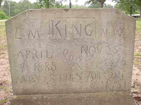 SPENCER KING, L. M. - Baxter County, Arkansas | L. M. SPENCER KING - Arkansas Gravestone Photos