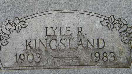KINGSLAND, LYLE R - Baxter County, Arkansas   LYLE R KINGSLAND - Arkansas Gravestone Photos