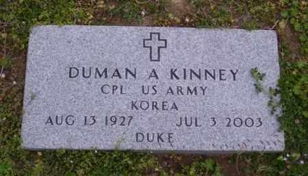 "KINNEY (VETERAN KOR), DUMAN A ""DUKE"" - Baxter County, Arkansas   DUMAN A ""DUKE"" KINNEY (VETERAN KOR) - Arkansas Gravestone Photos"