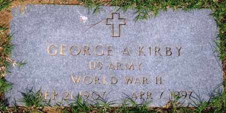 KIRBY (VETERAN WWII), GEORGE A - Baxter County, Arkansas | GEORGE A KIRBY (VETERAN WWII) - Arkansas Gravestone Photos