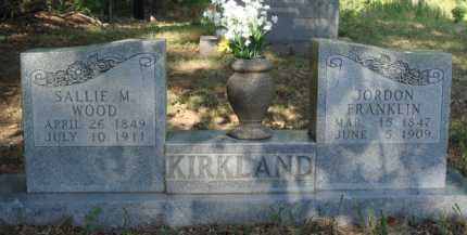 KIRKLAND, JORDON FRANKLIN - Baxter County, Arkansas | JORDON FRANKLIN KIRKLAND - Arkansas Gravestone Photos